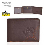 CARTERA PIEL LOIS MONED. SUAVE