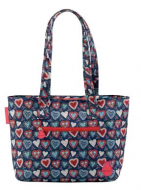 BOLSO SHOPPING CORAZONES FLAMENCO