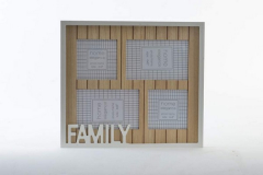 MARCO MULTIFOTO PARED MADERA 32x28x1.5cms.