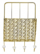 PERCHERO PARED METAL 22X10,5X34 REVISTERO DORADO