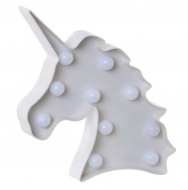 DECORACION LUMINOSA LED 24X4X24 UNICORNIO 2 SURT.