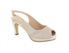 ZAPATO PEEP TOE DESTALONADO BRILLO