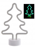 DECORACION LUMINOSA LED PP 18X8X28 3XAA ARBOL
