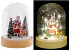 DECORACION LUMINOSA LED CRISTAL 14X19 PAPA NOEL